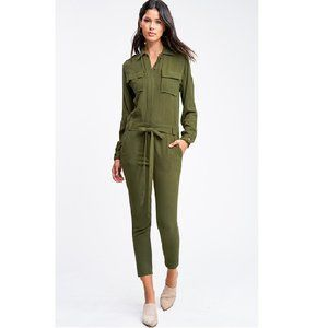 NWT Tapered Leg Coverall Cargo Utility Jumpsuit, S